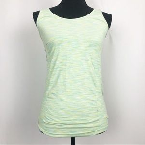 Athleta Green Breathe Ruched Workout Tank Top